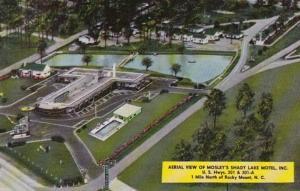 North Carolina Rocky Mount Aerial View Of Mosley's Shady Lake Motel