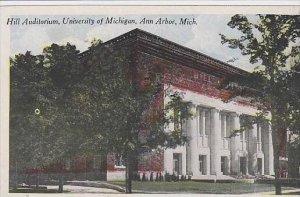 Michigan Ann Arbor Hill Auditorium University Of Michigan