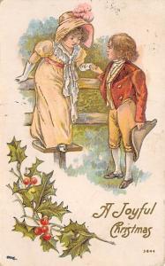 Christmas Post Card Old Vintage Antique Xmas Postcard