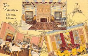 Moline Illinois~Plantation Restaurant~Night Club~7th Street~1946 Art Deco Linen