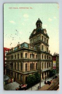 Pittsburgh PA, Historic City Hall, Clock Tower Vintage Pennsylvania Postcard