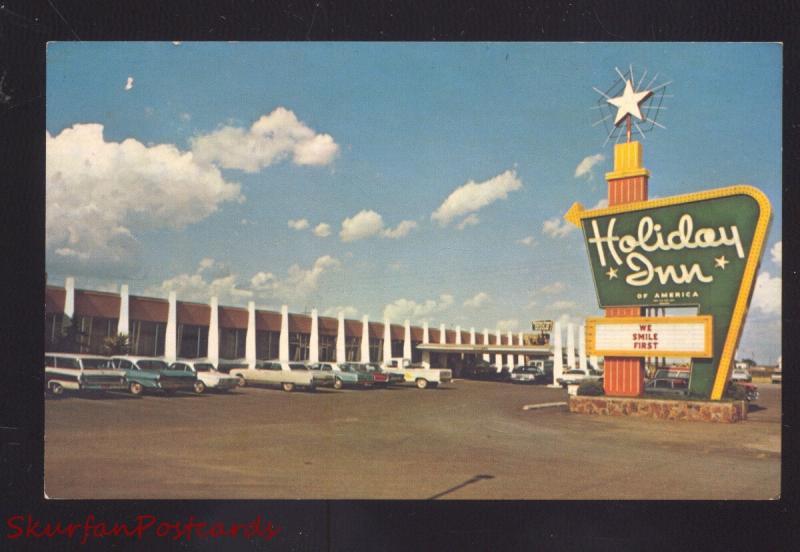 Clovis New Mexico Holiday Inn Motel Vintage Cars Advertising Postcard N M Hippostcard