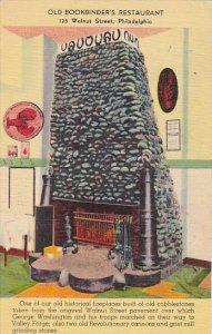 Old Historic Fireplace Bookbinders Restaurant Philadelphia Pennsylvania