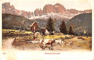 Switzerland Old Vintage Antique Post Card Rosengartengruppe Unused