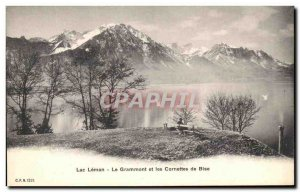 Old Postcard Lac Leman The Grammont And Macaroni In Bise
