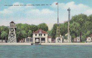 ERIE , Pennsylvania ,1930-40s ; U.S. Coast Guard Station