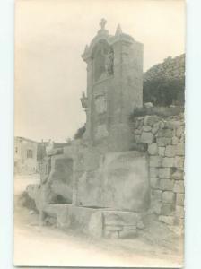 Old rppc MONUMENT TYPE SCENE Nice Postcard AB2251