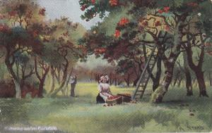 CUCKFIELD, Sussex, England, United Kingdom; Gathering Apples, PU-1909
