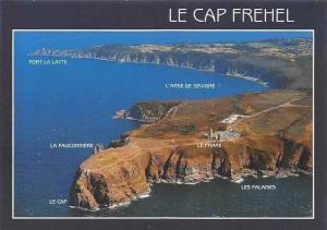 France La Cote d'Emeraude, le Cap Frehel Vue generale Le Phare, Les Falaises