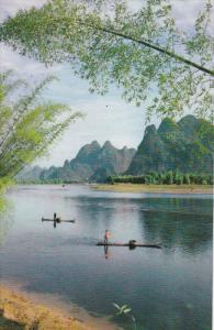 Fishing Boats in the Lijiang River , China , 70-90s
