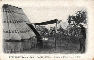 CPA Casablanca Le general Drude devant sa tente MAROC (689078)