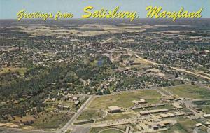Aerial view,  Wicomico High School,  City Park,  Salisbury,  Maryland,  40-60s