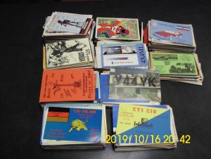 1000 QSL cards,  all Worlwide , All have artwork