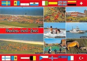 Nordsee Insel Juist, Sanddorn, Kurzentrum, Kinderspielteich, Faehrschiff