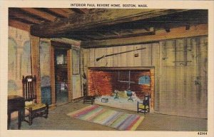 Interior Paul Revere Home Boston Massachusetts