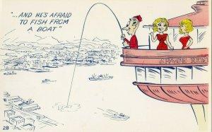 SEATTLE , Washington, 1960s; Fishing of Space Needle comic
