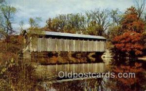 Fallasburg, Grand Rapids, MI USA Covered Bridge Postcard Post Card Old Vintag...