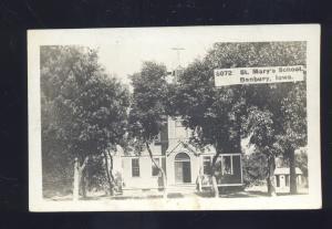 RPPC DANBURY IOWA ST. MARY'S SCHOOL VINTAGE REAL PHOTO POSTCARD AVOCA IA.