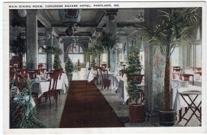 Portland, Me, Main Dining Room, Congress Square Hotel