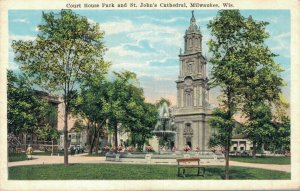USA Courthouse Park and St. John's Cathedral Milwaukee 06.42
