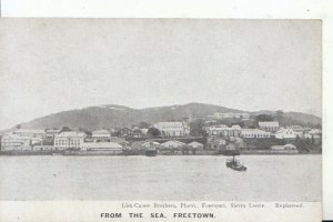 Africa Postcard - Sierra Leone - From The Sea - Freetown - Ref 15307A