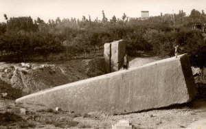 Lebanon - Baalbek. The Ancient Quarry.  *RPPC