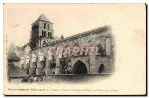 Postcard Old Saint Jouin de Marnes Deux Sevres external view of the Cloister ...