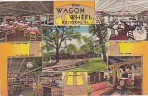 Illinois Rockton The Wagon Wheel Curteich