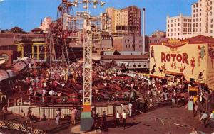 Long Beach~Hoffmeister Rotor Spinning Ride~Double Ferris Wheel~Race Cars 1955