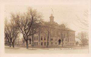 Sac City Iowa~Grade School~Big Houses All Around~c1912 Real Photo Postcard~RPPC