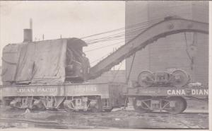 RP: CANADIAN PACIFIC Railroad Train Lift crane Train car, 00-10s used to lift...