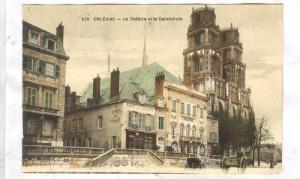 Orleans, France, 00-10s; Cafe du Loiret, Le Theatre et la Cathedrale