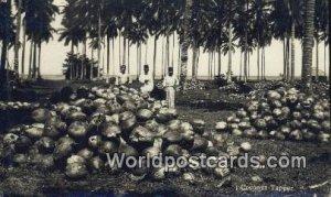 Real Photo Coconut Tapper Malaya, Malaysia Writing On Back