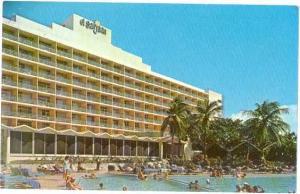 El San Juan Hotel Pool Scene, San Juan, Puerto Rico, U.S.A..  Chrome