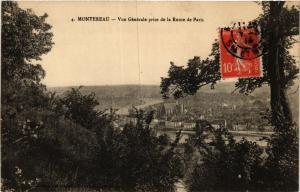 CPA MONTEREAU - Vue générale prise de la Route de PARIS (436861)