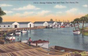 Florida Fort Pierce Shrimp Fishing Port and Fleet Curteich