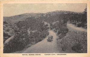 Canon City Colorado~Car on Royal Gorge Drive~20s Corner Drug Store-Albertype Pc