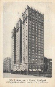 NEW YORK CITY, 1913; Vanderbilt Hotel, 34th Street at Park Avenue