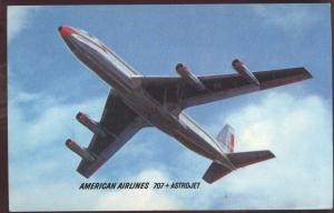American Astrojets Jetliner Airlines Flying Airplane Postcard