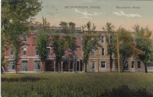 McPHERSON , Kansas , PU-1909 ; Merchants Hotel