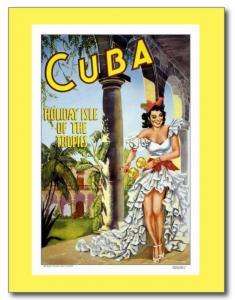 Cuba Travel Tourism Ad Vintage REPRO Postcard