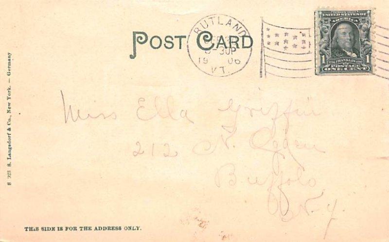 Maple Sugar Post Card Maple Sugar Camp Rutland, VT 1906