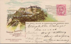 Chateau Frontenac Quebec Canadian Pacific Railway Earnings Expenses Postcard E93