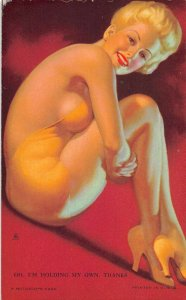Pin-Up Girl Yellow Bathing Suit Mutoscope Vintage Arcade Card AA1528