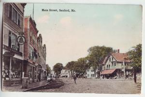 P923 1914 main street scene sanford maine