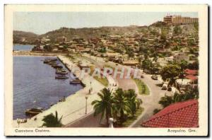 Old Postcard Carretera Costera Acapulco