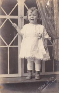 Young Girl Posing Juanita Evelyn Evans 2 Years OLld Rose Studios Champaign Il...