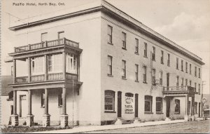 North Bay Ontario Pacific Hotel Unused Dole & Son Postcard E87
