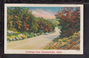 Greetings From Frankfort,OH Postcard