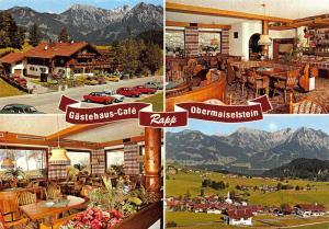 Gastehaus Cafe Rapp Obermaiselstein Cars Auto Panorama Postcard